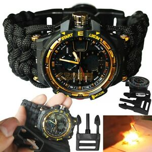 【送料無料】 腕時計 ディジタルledアラームスポーツアナログwaterproof digital led alarm date army wrist watch military sport analog watch
