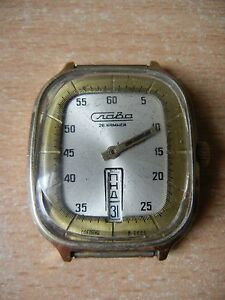 【送料無料】 腕時計 ヴィンテージロシアussr slava men watchカレンダー26vintage russian ussr slava men watch calendar gilded 26 jewels
