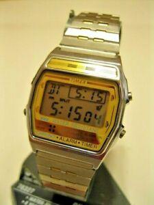 【送料無料】 腕時計 クオーツデジタルアラームタイマーデュアルタイムゾーンウォッチrare timex quartz digital watch alarm chronoghaph timer dual time zone