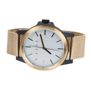 【送料無料】 腕時計 ネフカービンメッシュゴールドホワイト22mm