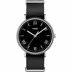 【送料無料】 腕時計 ブラックレザーウォッチ