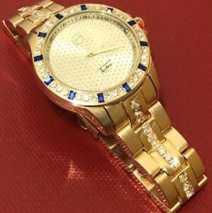 【送料無料】 腕時計 ボックスメンズゴールドルビーベゼルブランドbrand with orignal box mens gold finished ruby bezel watch
