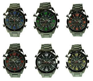 【送料無料】 腕時計 ny london mensブロンズアラームストップウォッチ