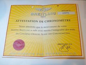 【送料無料】 腕時計 ブライトリングアテステーションクロノメーターbreitling attestation de chronometre montre no 632771 certificate 0030223025