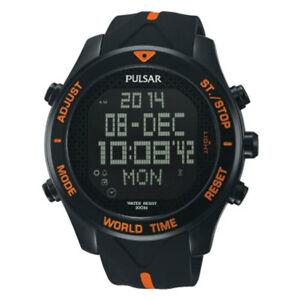 【送料無料】 腕時計 パルサートイレディジタルクロノグラフpq2037x1pnppulsar gents digital chronograph resin strap watch pq2037x1pnp