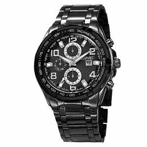 【送料無料】 腕時計 シュタイナースイスマルチファンクションタキメーターブレスレット mens august steiner as8127bk swiss multifunction tachymeter bracelet watch