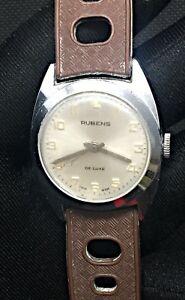 【送料無料】 腕時計 ビンテージ listingrubens vintage watch working hand manual winding 30,5mm