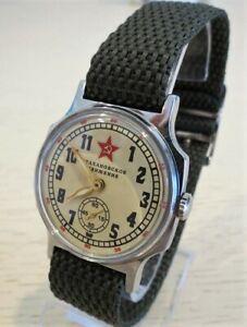 【送料無料】 腕時計 ソストラップサービスpobeda wrist watch zim stakhanov foremost way ussr nato strap serviced
