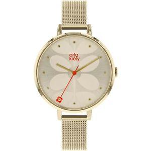 【送料無料】 腕時計 アイビーレディースメッシュブレスレットorla kiely ivy ladies mesh bracelet watch ok4062