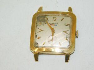 【送料無料】 腕時計 ビンテージスイスゴールドvintage swiss mens benrus gold ep fi 20 winding watch 17 jewels runs