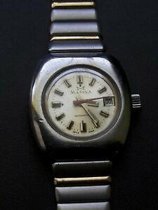 【送料無料】 腕時計 ビンテージスイスvintage womens wristwatch matina automatic, 21 jewels, swiss made