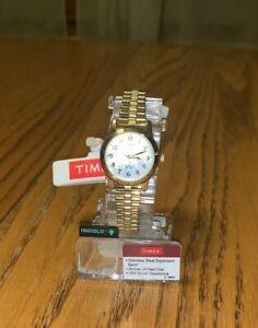 【送料無料】 腕時計 ウォッチtimex t2m827, womens goldtone expansion watch indiglo