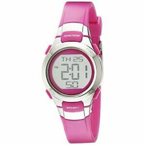 【送料無料】 腕時計 スポーツデジタルクロノグラフストラップウォッチarmitron sport womens 457012 digital chronograph resin strap watch