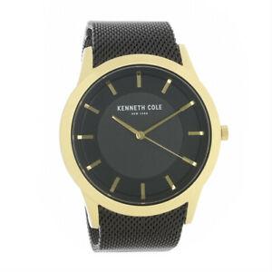 【送料無料】 腕時計 ケネスコールmensステンレスkc50566001kenneth cole mens gold plated stainless steel quartz watch kc50566001