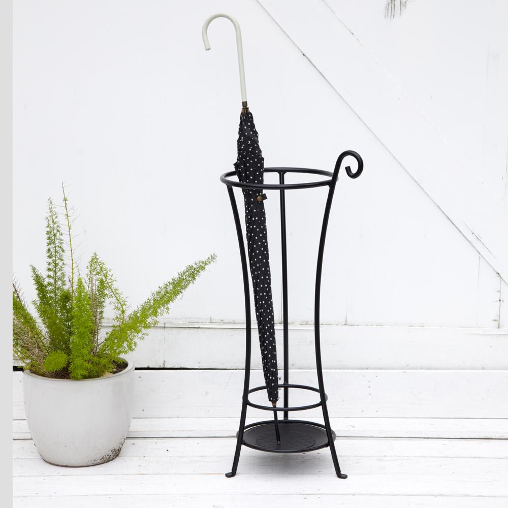 小さめ傘立て サークル シンプル かわいい パリ風 鉄の傘立て 日本製の傘立て 丸型傘立て 玄関の片付け メーカー直販