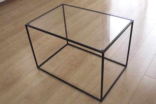 トレイテーブル600×400BKガラス サイドテーブル ローテーブル スタッキングシェルフ 日本製 メーカー直販 アイアン テーブル おしゃれ ナイトテーブル ベッドサイドテーブル 北欧 モダン  トレイテーブル お洒落 新生活 一人暮らし 人気 デザイン モデルルームに