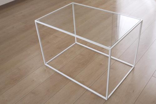 トレイテーブル600×400WHガラス サイドテーブル ローテーブル スタッキングシェルフ 日本製 メーカー直販 アイアン テーブル おしゃれ ナイトテーブル ベッドサイドテーブル 北欧 モダン  トレイテーブル お洒落 新生活 一人暮らし 人気 デザイン