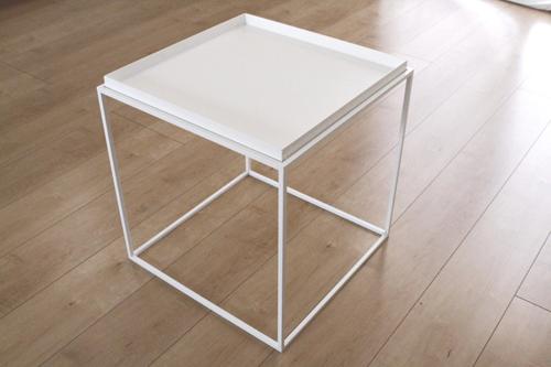 トレイテーブル400角WHトレイ サイドテーブル ローテーブル スタッキングシェルフ 日本製 メーカー直販 アイアン テーブル おしゃれ ナイトテーブル ベッドサイドテーブル 北欧 モダン  トレイテーブル お洒落 新生活 一人暮らし 人気 デザイン モデルルームに