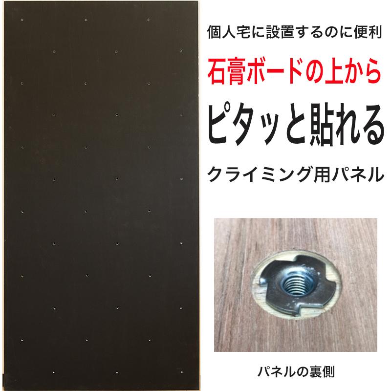 【個人宅向け】黒板塗装済みクライミングウォール用パネル FLAT(910 x 1820mm、黒板塗装 、Boltタイプ) 【パネルの裏側に金具の出っ張りを無くしたタイプ/代引き不可/ラワンベニア/合板/DIY/ボルダリング/クライミング壁/キッズルーム/子供部屋/ボード/木板】