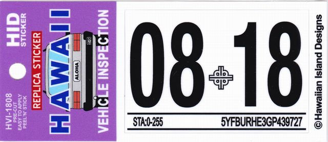 hawaii vehicle inspection sticker kamos sticker With kitchen cabinets lowes with state inspection sticker