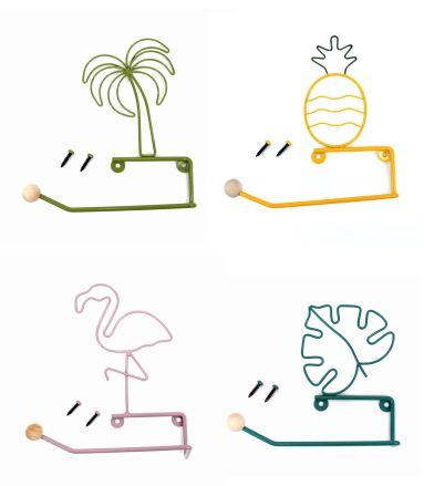 ハワイアン雑貨 ハワイ 雑貨 ハワイアン アイデア次第で使えるブリキホルダー インテリア お土産 在庫一掃セール フラミンゴ ハワイアン雑貨インテリア パイナップル ブリキ ヤシ プレゼント ペーパーホルダー モンステラ 国内正規品 タオルホルダー