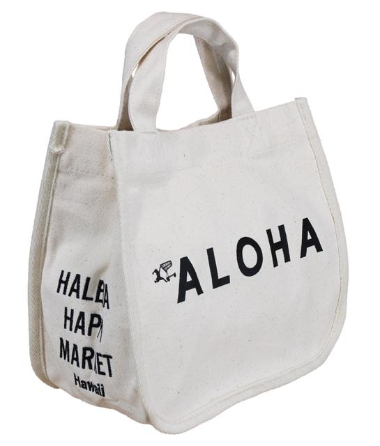 【お買い得セール】ハワイアン トートバッグ ハワイアン雑貨 ハレイワ HALEIWA アロハプリント ミニトートバッグ(ホワイト) HLBG-1803A ハワイ...