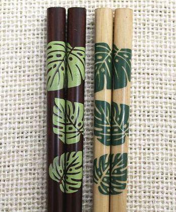 ハワイアン雑貨/インテリア/ハワイアン 雑貨 Green Hawaii 箸-天然木 ハワイアン雑貨/ハワイ お土産 ハワイアン インテリア