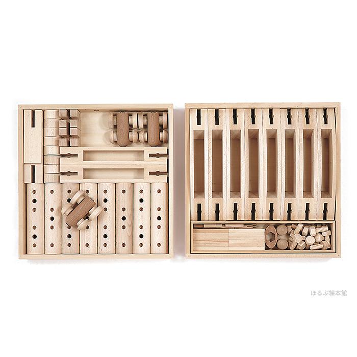 童具館の組み木 クムンダ/白木の積み木・日本製・誕生日お祝い・木のおもちゃ