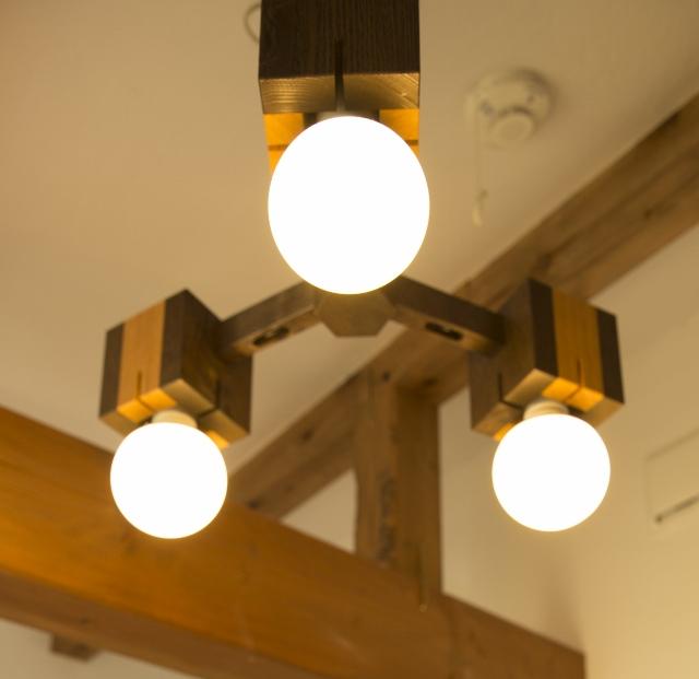 【LEDペンダントライト5年保証】【送料無料】オリジナル cubu3 LED電球付属 木製 ペンダントライト 天井照明 インテリア照明 照明器具 お洒落 かわいい 店舗 リノベーション  シャンデリア ダイニング リビング