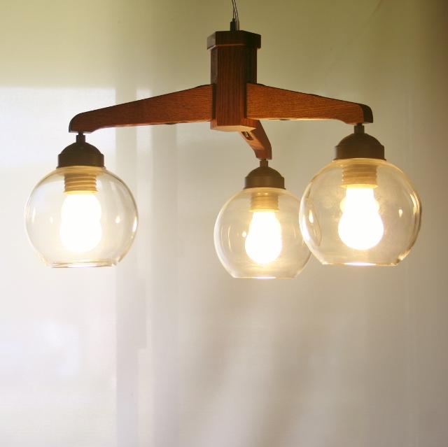 ペンダントライト 照明【GLASS BOLL3-宙吹き-】LED付属 天井照明 インテリア照明 照明器具 3灯タイプ おしゃれ お洒落 かわいい ガラス 3万円以上で送料無料 店舗照明・リノベーション照明・リフォーム照明