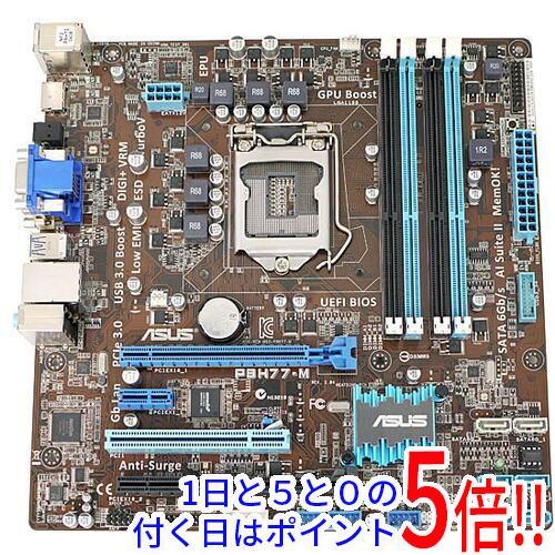 【キャッシュレスで5%還元】【中古】ASUS製 MicroATXマザーボード P8H77-M LGA1155