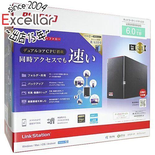 【新品訳あり(箱きず・やぶれ)】 BUFFALO LinkStation LS520D0602G 6TB