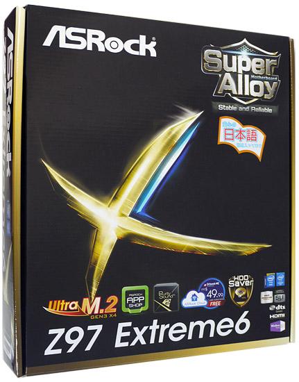 【中古】ASRock製 ATXマザーボード Z97 Extreme6 LGA1150 元箱あり