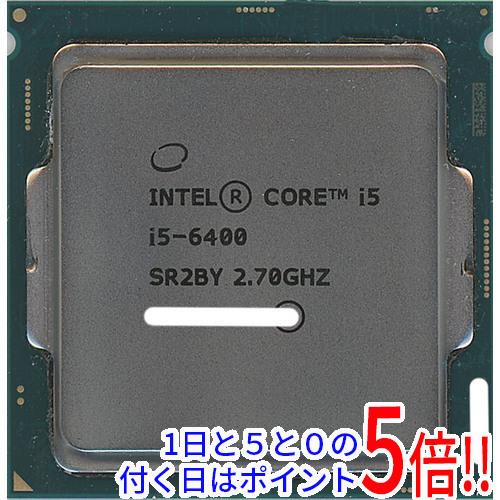 【キャッシュレスで5%還元】【中古】Core i5 6400 2.7GHz 6M LGA1151 65W SR2BY