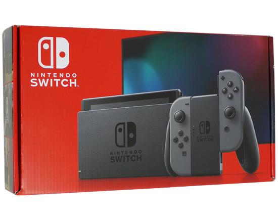 【エントリーでポイント10倍!12/1 10:00~1/1 9:59まで!!】【中古】任天堂 Nintendo Switch 新モデル HAD-S-KAAAA グレー 未使用