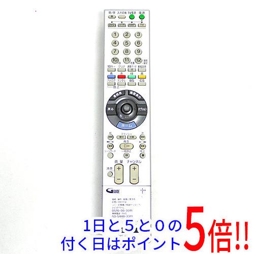 【エントリーでポイント10倍!12/1 10:00~1/1 9:59まで!!】【中古】SONY DVDレコーダー用リモコン RMT-D227J