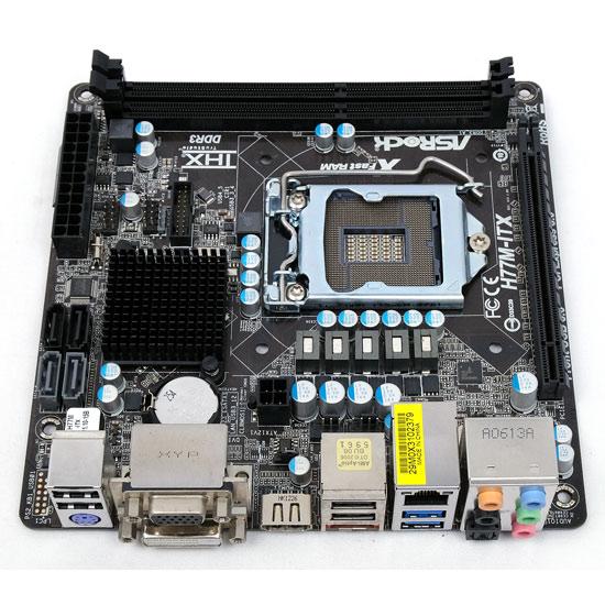 【中古】ASRock製 Mini ITXマザーボード H77M-ITX LGA1155