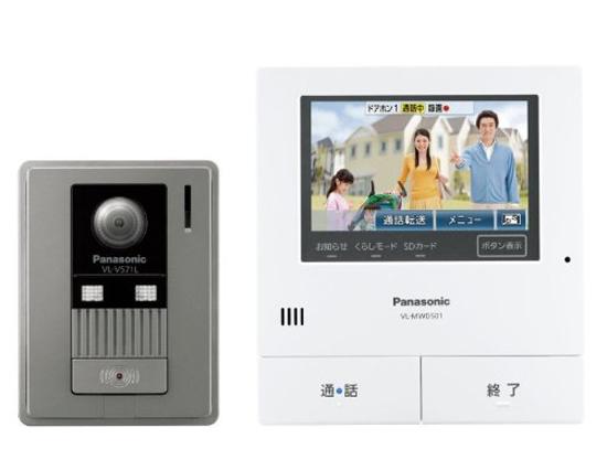 【新品訳あり(箱きず・やぶれ)】 Panasonic テレビドアホン VL-SVD501KL