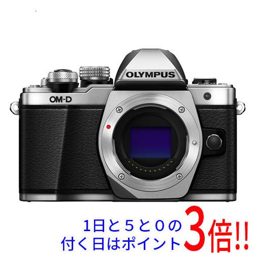 【中古】OLYMPUS OM-D E-M10 Mark II ボディ シルバー ワケあり 未使用