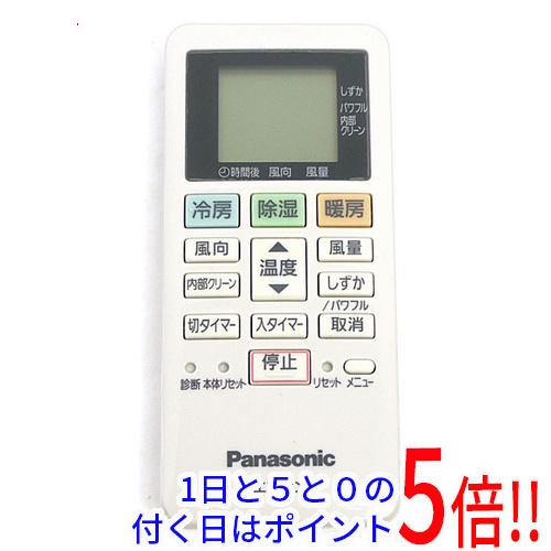 【エントリーでポイント10倍!12/1 10:00~1/1 9:59まで!!】【中古】Panasonic エアコンリモコン ACXA75C13980