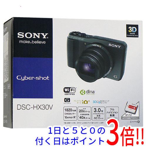 【中古】SONY製 Cyber-shot DSC-HX30V/B ブラック 1820万画素 元箱あり