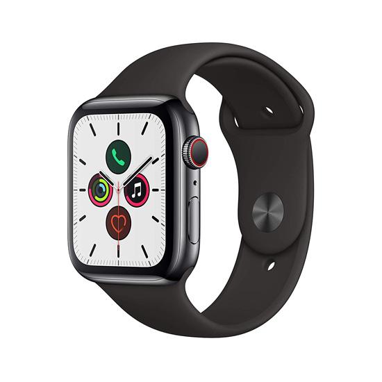 【キャッシュレスで5%還元】Apple Watch Series 5 GPS+Cellularモデル 44mm MWWK2J/A スペースブラックステンレススチールケース/ブラックスポーツバンド