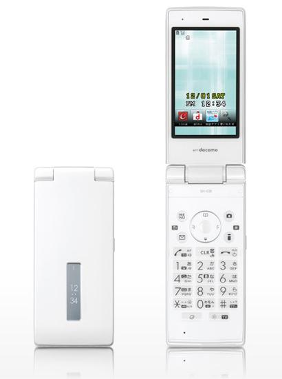 【キャッシュレスで5%還元】【中古】docomo 防水ケータイ STYLE series SH-03E White 美品