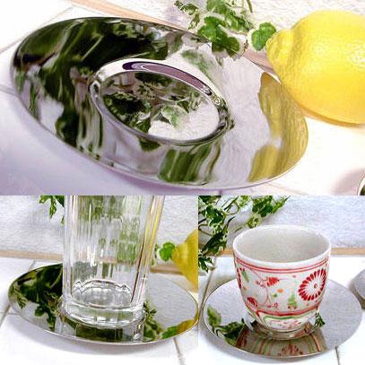 お気に入りのグラスやマグカップをのせて おもてなし ステンレス Mサイズ 購買 トラスト ソーサー