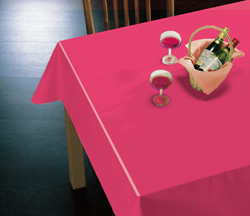 【業務用反売り】赤い布テーブルクロス(はっ水加工)NF2001レッド【約130cm巾×約15m巻】