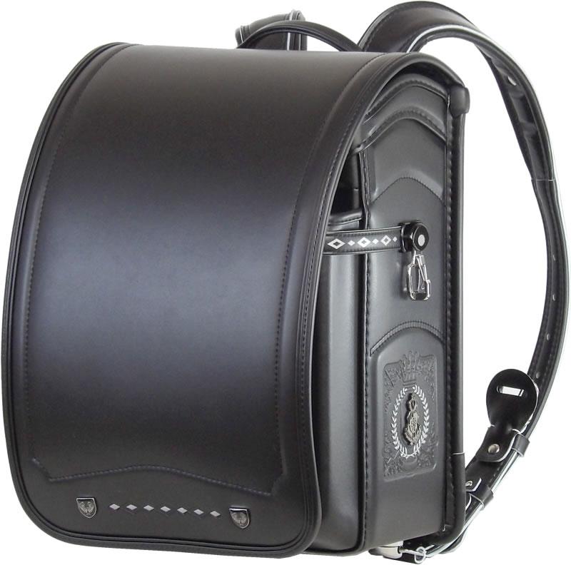 ふわりぃ 耐傷 ランドセル パイピンコンビ メガポケットモデル (オールブラック)A4フラットファイル対応  送料無料