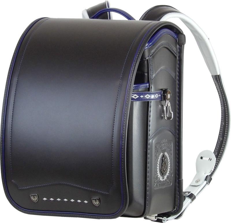 ふわりぃ 耐傷 ランドセル パイピンコンビ メガポケットモデル (黒×マリンブルー)A4フラットファイル対応  送料無料