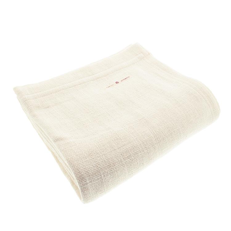 益久染織研究所 タオルケット 和紡布 ガラ紡のブランケット キナリ 約140×200cm