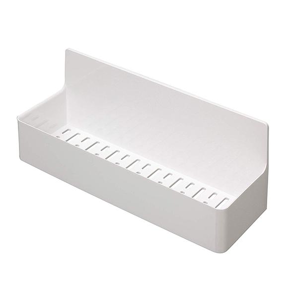 浴室 収納 ユニットバス マグネット 磁石 トレイ ポケット シャンプー 整理 東和産業 バス収納 磁着SQ マグネット バスポケット ワイド ホワイト 約28.3×9.4×11.2cm 39208