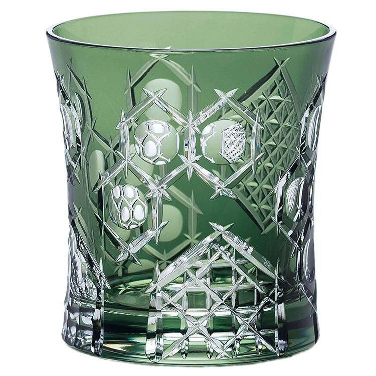 東洋佐々木ガラス グラス 八千代切子 亀甲柄 グリーン 280ml 日本製 LS19590SCG-C681